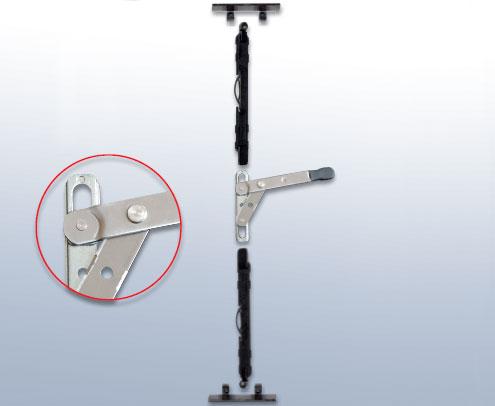 Μηχανικός Σύρτης δεύτερου φύλλου ανοιξείδωτο βραχίονα ΣΑΝ-1030